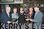 MENU: At the launch of the brand new menu in Kirby's Brogue, Tralee last Friday were l-r: Sean and Vera O'Connor (Tralee), Marie Kirby (proprietor) with Betty and Robert Groves (Kielduff).