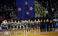 12.10.2016 Action during the Silver Ferns v Australia netball test match played at the Silver Dome in Launceston in Australia.. Mandatory Photo Credit ©Michael Bradley.