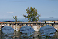 """The original, historic """"Overseas Railroad"""" bridges in the Florida Keys built by Henry Flagler in the early 1900s"""