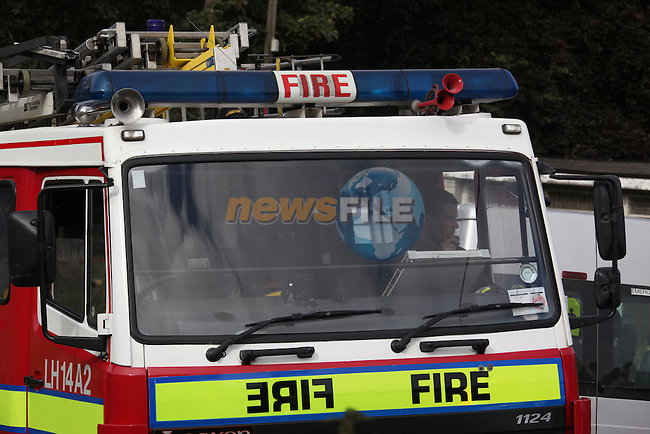 Two units from Drogheda Fire service were called to tackle a fire at a derelict house on the Baltray road out of Termonfeckin. The House was gutted by the fire.Photo: Fran Caffrey/www.newsfile.ie..