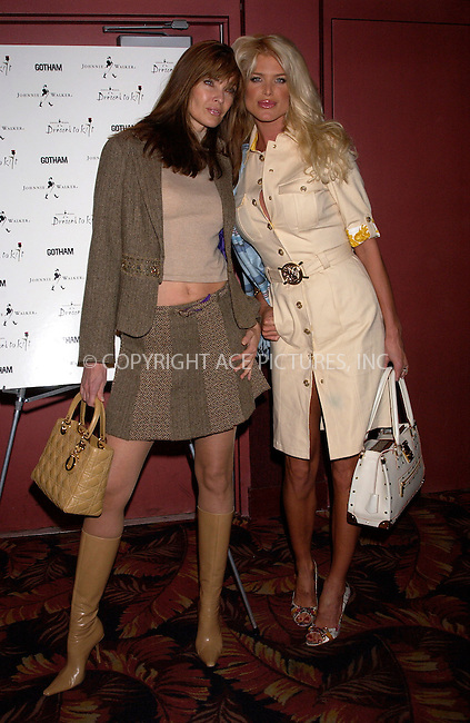 WWW.ACEPIXS.COM . . . . . ....NEW YORK, APRIL 6, 2005....Victoria Silvstedt and Carol Alt at Dressed to Kilt held at the Copacabana.....Please byline: KRISTIN CALLAHAN - ACE PICTURES.. . . . . . ..Ace Pictures, Inc:  ..Craig Ashby (212) 243-8787..e-mail: picturedesk@acepixs.com..web: http://www.acepixs.com