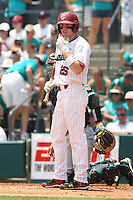 University of South Carolina Gamecocks designated hitter Adam Matthews #26 at bat during the 2nd and deciding game of the NCAA Super Regional vs. the University of Coastal Carolina Chanticleers on June 13, 2010 at BB&T Coastal Field in Myrtle Beach, SC.  The Gamecocks defeated Coastal Carolina 10-9 to advance to the 2010 NCAA College World Series in Omaha, Nebraska. Photo By Robert Gurganus/Four Seam Images