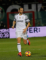 Leonardo Bonucci  during the  italian serie a soccer match,between Crotone and Juventus      at  the Scida   stadium in Crotone  Italy , February 08, 2017