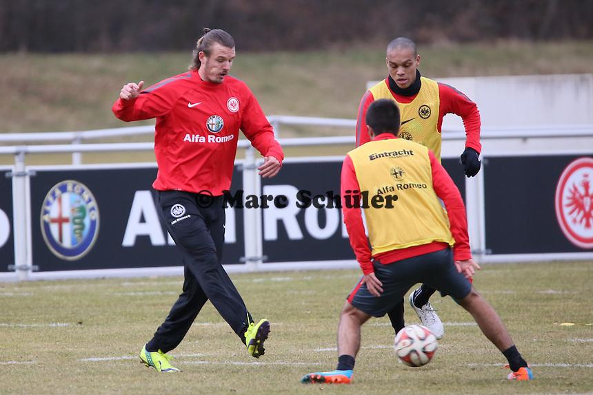 Alex Meier setzt sich durch - Eintracht Frankfurt Training, Commerzbank Arena