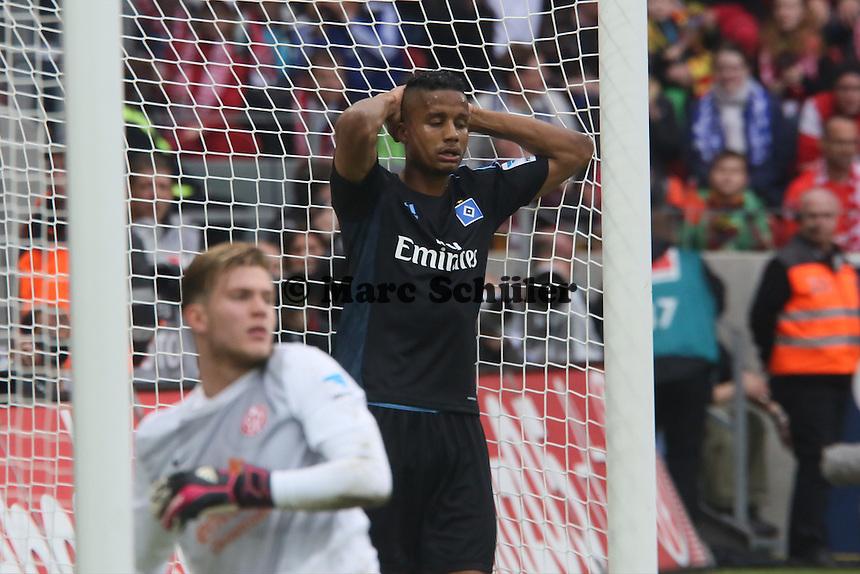 Michael Macienne (HSV) frustriert nach verpasster Chance - 1. FSV Mainz 05 vs. Hamburger SV, Coface Arena, 34. Spieltag