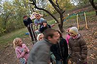 UKRAINE, Orane village, 2010/10/10<br /> LIFE IN ZONE - Orane village is only few kilometers from border of the Forbidden Zone, Orane, October 10, 2010.<br /> © Vaclav Vasku/EST&OST