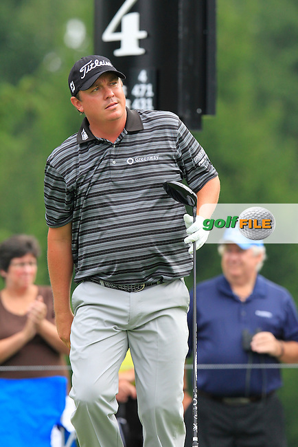 Jason DUFFNER (USA) tees off the 4th tee during Saturday's Round 3 of the WGC Bridgestone Invitational, held at the Firestone Country Club, Akron, Ohio.: Picture Eoin Clarke, www.golffile.ie: 2nd August 2014