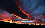 Sierra sunset in Gardnerville, Nev. on Friday, Aug. 29, 2014.<br /> Photo by Cathleen Allison
