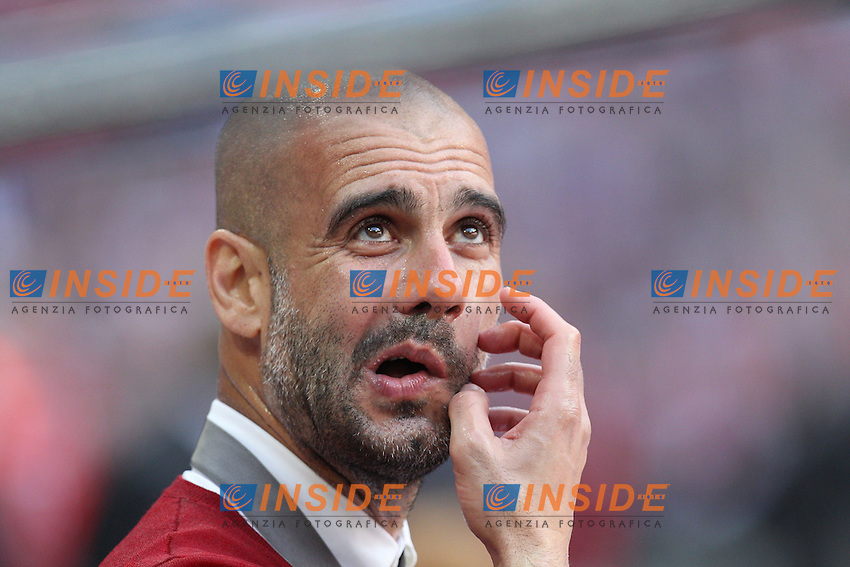 10.05.2014, Allianz Arena, Muenchen, GER, 1. FBL, FC Bayern Muenchen vs VfB Stuttgart, 34. Runde, im Bild Chef-Trainer Pep Guardiola (FC Bayern Muenchen) // during the German Bundesliga 34th round match between FC Bayern Munich and VfB Stuttgart at the Allianz Arena in Muenchen, Germany on 2014/05/10. EXPA Pictures &copy; 2014, PhotoCredit: EXPA/ Eibner-Pressefoto/ Kolbert<br /> <br /> *****ATTENTION - OUT of GER***** <br /> Football Calcio 2013/2014<br /> Bundesliga 2013/2014 Bayern Campione Festeggiamenti <br /> Foto Expa / Insidefoto