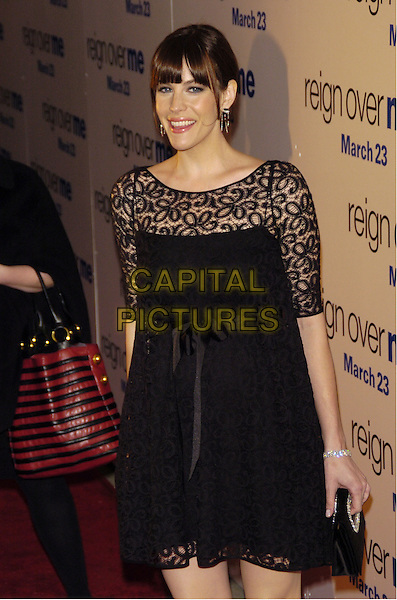 "LIV TYLER.Premiere of Sony Pictures ""Reign Over Me"" Skirball Center at NYU, 566 La Guardia Place, New York, New York, USA..March 20th, 2007.half length black lace dress.CAP/ADM/BL.©Bill Lyons/AdMedia/Capital Pictures *** Local Caption ***"