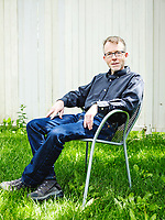 Author and journalist David Baron at his home in Boulder, Colorado, Wednesday, May 31, 2017. Baron recently authored the book American Eclipse in advance of the August 21 total solar eclipse. <br /> <br /> Photo by Matt Nager