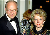 United States Representative Dick Cheney (Republican of Wyoming) and his wife, Lynne, arrive at the White House in Washington, D.C. for a State Dinner in honor of Prime Minister Margaret Thatcher of the United Kingdom on November 16, 1988.<br /> Credit: Ron Sachs / CNP