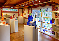 Showroom, Martha's Vineyard Glassworks, West Tisbury, Martha's Vineyard, Massachusetts, USA
