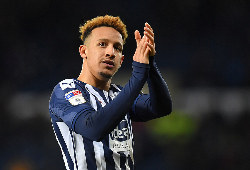 West Bromwich Albion's Callum Robinson, an ex PNE player applauded the PNE traveling fans after the game, even though he as responsible for getting Darnell Fisher red carded<br /> <br /> Photographer Dave Howarth/CameraSport<br /> <br /> The EFL Sky Bet Championship - West Bromwich Albion v Preston North End - Tuesday 25th February 2020 - The Hawthorns - West Bromwich<br /> <br /> World Copyright © 2020 CameraSport. All rights reserved. 43 Linden Ave. Countesthorpe. Leicester. England. LE8 5PG - Tel: +44 (0) 116 277 4147 - admin@camerasport.com - www.camerasport.com