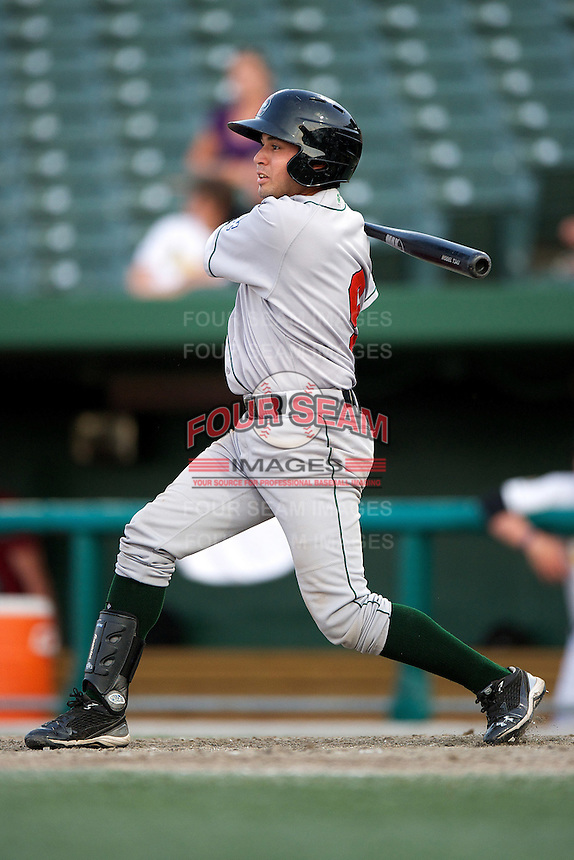 Great Lakes Loons Jesus Arredondo #9 during a game against the South Bend Silver Hawks at Coveleski Stadium on June 27, 2012 in South Bend, Indiana.  Great Lakes defeated South Bend 11-6  (Mike Janes/Four Seam Images)