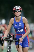 02 SEP 2007 - HAMBURG, GER - Jessica Adams (GBR) - World Age Group Triathlon Championships. (PHOTO (C) NIGEL FARROW)