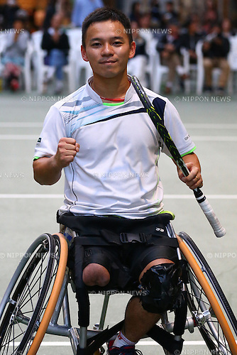 Takashi Sanada, NOVEMBER 15, 2015 - WheelChair Tennis : All-Japan Wheelchair Tennis Masters Men's Singles Final at Tennis Traning Center in Chiba, Japan. (Photo by Shingo Ito/AFLO SPORT)