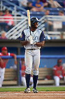 Brooklyn Cyclones first baseman Darryl Knight (25) at bat during a game against the Batavia Muckdogs on July 5, 2016 at Dwyer Stadium in Batavia, New York.  Brooklyn defeated Batavia 5-1.  (Mike Janes/Four Seam Images)