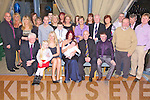 Celebrations - Tara Boyle & Billy Ronan from Caherslee, seated centre having a wonderful time with godparents Erin Ronan and Nial Trant, friends and family at the Christening celebrations for their son Joshua held in The Ballyroe Heights hotel on Saturday following the ceremony in St. Brendan's Church, Tralee.