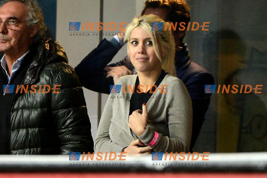 Wanda Nara, Nicola Berti<br /> Milano 09-11-2014 Stadio Giuseppe Meazza - Football Calcio Serie A Inter - Hellas Verona. Foto Giuseppe Celeste / Insidefoto
