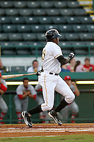 April 29, 2010 Infielder Calvin Anderson of the Bradenton Marauders, Florida State League Class-A affiliate of the Pittsburgh Pirates, during a game at McKenhnie Field in Bradenton Fl. Photo by: Mark LoMoglio/Four Seam Images