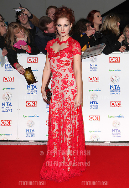 Paula Lane arriving for the National Television Awards 2014 (NTAs), at the O2, London. 22/01/2014 Picture by: Alexandra Glen / Featureflash