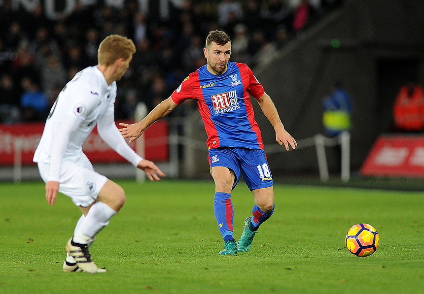 Crystal Palace's James McArthur in action during todays match  <br /> <br /> Photographer Ashley Crowden/CameraSport<br /> <br /> The Premier League - Swansea City v Crystal Palace - Saturday 26th November 2016 - Liberty Stadium - Swansea <br /> <br /> World Copyright &copy; 2016 CameraSport. All rights reserved. 43 Linden Ave. Countesthorpe. Leicester. England. LE8 5PG - Tel: +44 (0) 116 277 4147 - admin@camerasport.com - www.camerasport.com
