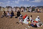 Mount Zion Spiritual Baptist Church.  Church outing  to Felixstowe. New members are baptised in the sea.