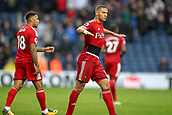 30th September 2017, The Hawthorns, West Bromwich, England; EPL Premier League football, West Bromwich Albion versus Watford; Richarlison of Watford celebrates scoring the equaliser and actions a floating motion