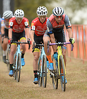 NWA Democrat-Gazette/ANDY SHUPE<br /> Kerry Werner Jr. competes Saturday, Oct. 5, 2019, during the inaugural FayetteCross two-day cyclocross race series on Millsap Mountain at Centennial Park in Fayetteville. Visit nwadg.com/photos to see more photographs from the race.