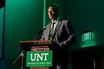 DENTON TEXAS, April 30: University of North Texas Mean Green Athletics hold the second annual Scrappy's. Rick Yeatts Photography/Colin Mitchell) DENTON TEXAS, April 30: University of North Texas Mean Green Athletics hold the second annual Scrappy's Awards at Student Union Building in Denton on April 30,2018 in Denton Texas. Rick Yeatts Photography /Colin Mitchell)