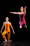 SUITE FOR FIVE....Choregraphie : CUNNINGHAM Merce..Mise en scene : CUNNINGHAM Merce..Compositeur : CAGE John..Compagnie : Merce Cunningham Dance Company..Lumiere : EMMONS Beverly..Costumes : RAUSCHENBERG Robert..Avec :..GOGGANS Jennifer..SCOTT Jamie..Lieu : Theatre de la Ville..Ville : Paris..Le : 15 12 2011..Laurent Paillier