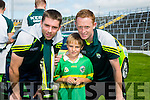 Emmet Cronin with Marc O'Se and Colm Cooper at Kerry GAA family day at Fitzgerald Stadium  on Sunday