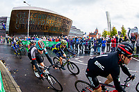 Picture by Alex Whitehead/SWpix.com - 10/09/2017 - Cycling - OVO Energy Tour of Britain - Stage 8, Worcester to Cardiff - The peloton ride past the Millennium Centre near the stage finish in Cardiff.