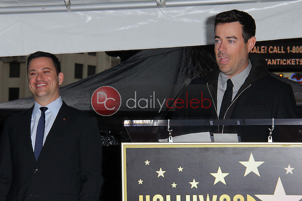 Jimmy Kimmel, Carson Daly<br /> at Jimmy Kimmel's induction into the Hollywood Walk of Fame, Hollywood, CA 01-25-13<br /> David Edwards/DailyCeleb.com 818-249-4998