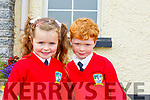 Daniel Collins and Sophie O'Donoghue, Junior Infants in Booleenshere NS