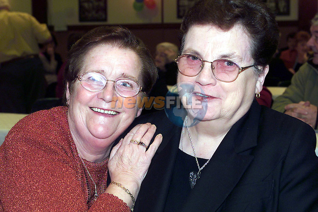 Marie O'Mahoney Drogheda road, Betty Jones Stoneylane at the Ardee Brass Band Reunion.Pic Fran Caffrey Newsfile