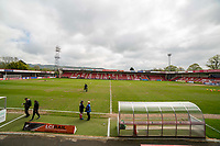 General view inside the ground ahead of the Sky Bet League 2 match between Cheltenham Town and Grimsby Town at the The LCI Rail Stadium,  Cheltenham, England on 17 April 2017. Photo by PRiME Media Images / Mark Hawkins.