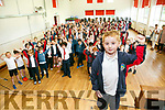 Winner of the School Spirit Award, Luke O'Donoghue with  at Scoil Eoin Balloonagh on Friday