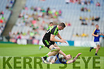 All Ireland Junior Football Final 6/8/2016<br /> Kerry's Kevin O'Sullivan tackled by Robert Holihan of Mayo<br /> Pic : Lorraine O'Sullivan