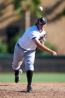 Chicago White Sox minor league pitcher Daniel Webb #50 during an instructional league game against the Los Angeles Dodgers at the Camelback Training Complex on October 9, 2012 in Glendale, Arizona.  (Mike Janes/Four Seam Images)