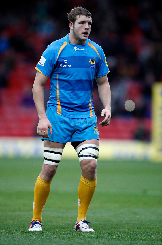 Photo: Richard Lane/Richard Lane Photography. Saracens v London Wasps. Aviva Premiership. 04/11/2012. Wasps' Joe Launchbury.