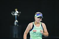 January 1, 2020: 14th seed SOFIA KENIN (USA) in action against GARBIÑE MUGURUZA (ESP) on Rod Laver Arena in a Women's Singles Final match on day 13 of the Australian Open 2020 in Melbourne, Australia. Photo Sydney Low. Kenin won 46 62 62