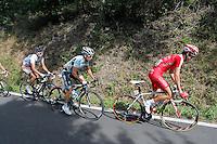 Rudy Molard (r) and Dario Cataldo (c) escapees during the stage of La Vuelta 2012 between Palas de Rei and Puerto de Ancares.September 1,2012. (ALTERPHOTOS/Paola Otero) NortePhoto.com<br /> <br /> **CREDITO*OBLIGATORIO** <br /> *No*Venta*A*Terceros*<br /> *No*Sale*So*third*<br /> *** No*Se*Permite*Hacer*Archivo**<br /> *No*Sale*So*third*