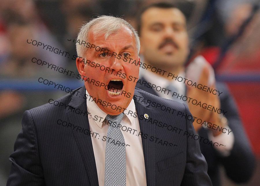 Kosarka Euroleague season 2015-2016<br /> Euroleague <br /> Crvena Zvezda v Fenebahce Istanbul<br /> Head coach Zeljko Obradovic <br /> Beograd, 06.11.2015.<br /> foto: Srdjan Stevanovic/Starsportphoto &copy;