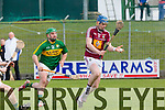 In Action Westmeath's Tommy Doyle and Kerry's Mikey Boyle at the Kerry v Westmeath at Austin Stack Park on Sunday