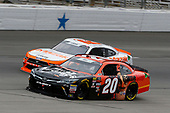 #20: Christopher Bell, Joe Gibbs Racing, Toyota Camry GameStop/Hello Neighbor and #12: Austin Cindric, Team Penske, Ford Mustang Mazak