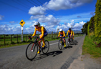 Takapuna A u20 boys in action during the NZ Schools Road Cycling championship day one team time trials at Koputaroa Road near Levin, New Zealand on Saturday, 30 September 2017. Photo: Dave Lintott / lintottphoto.co.nz