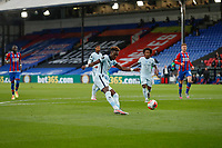 7th July 2020; Selhurst Park, London, England; English Premier League Football, Crystal Palace versus Chelsea; Tammy Abraham of Chelsea with a shot on goal
