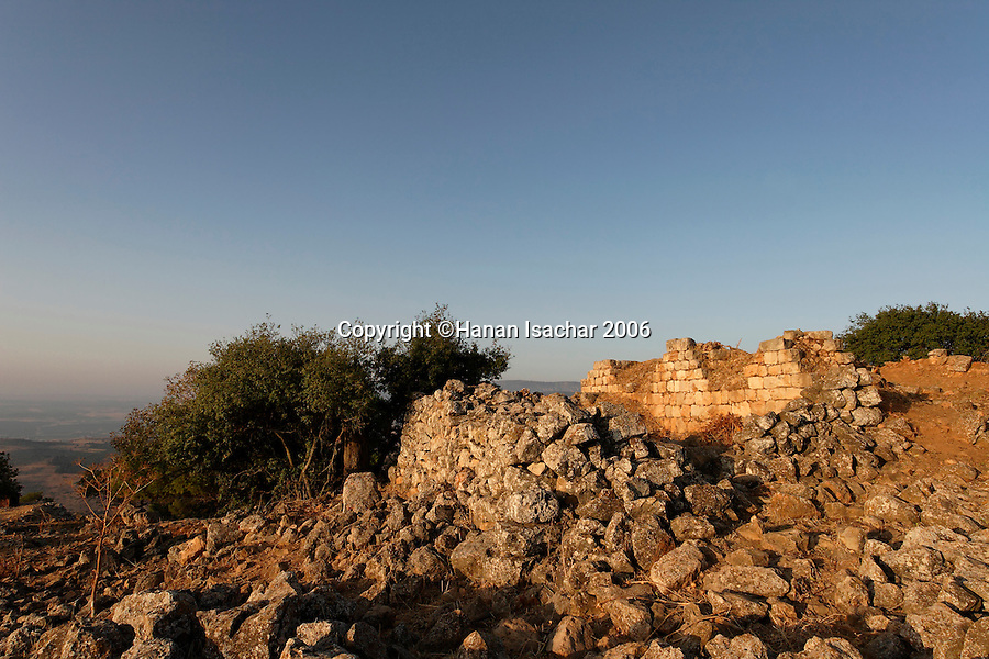 Israel, the Upper Galilee. The remains of the Hellenistic Temple in Keren Naphtali